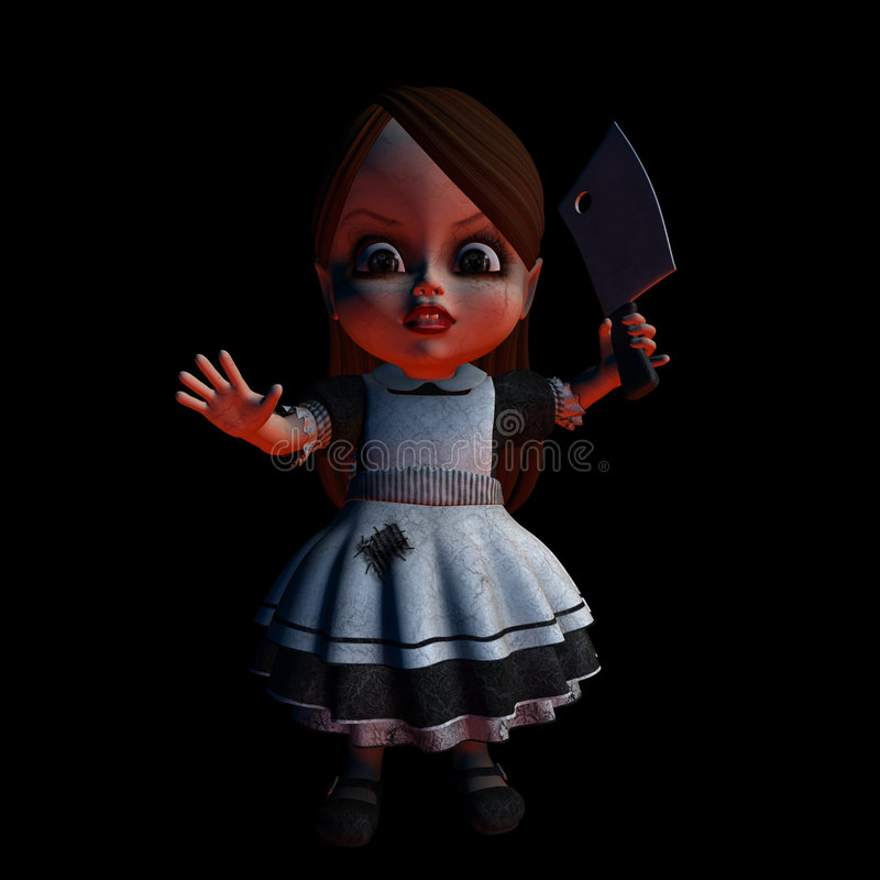 Halloween-Puppe 1 - Stütze zurück vektor abbildung