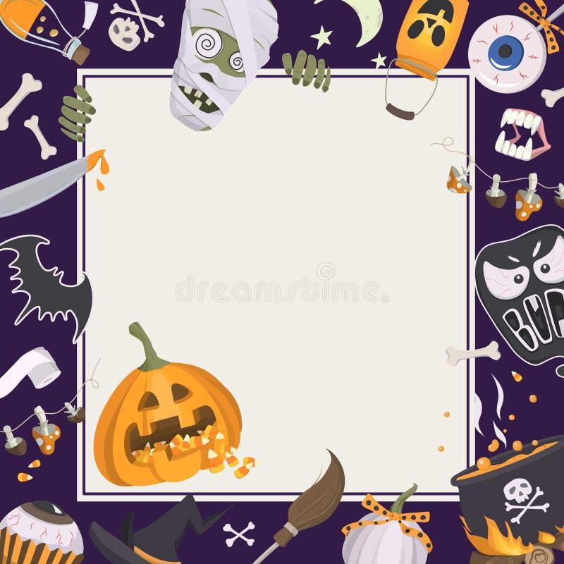 Halloween-Rahmen stock abbildung