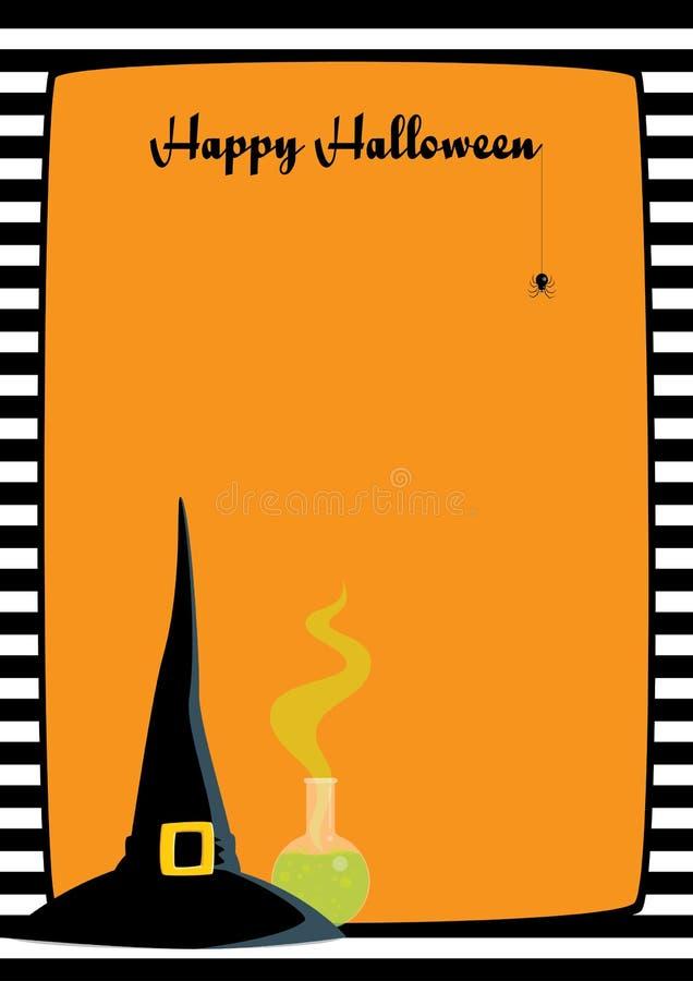 Halloween-Rahmenhexen-Huttrank vektor abbildung