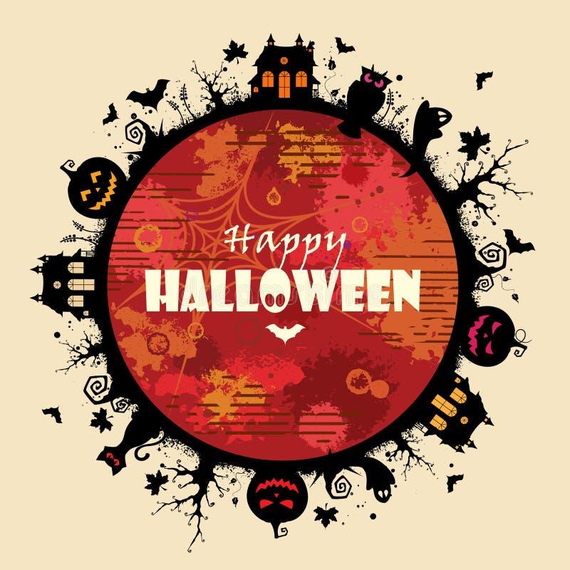 Halloween ram vektor illustrationer