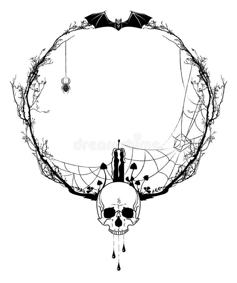 Halloween rama royalty ilustracja