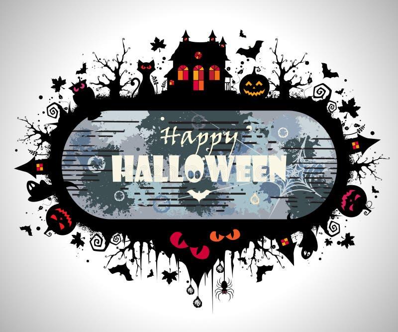 Halloween rama ilustracji