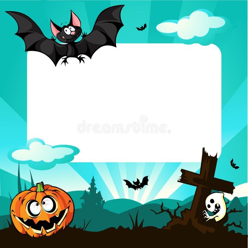 Halloween rama - wektorowa ilustracja royalty ilustracja