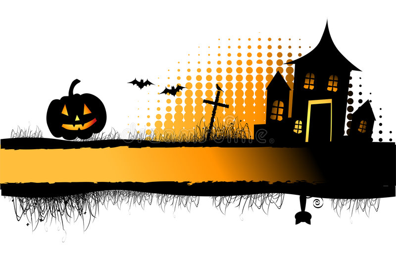 halloween ramowa noc royalty ilustracja