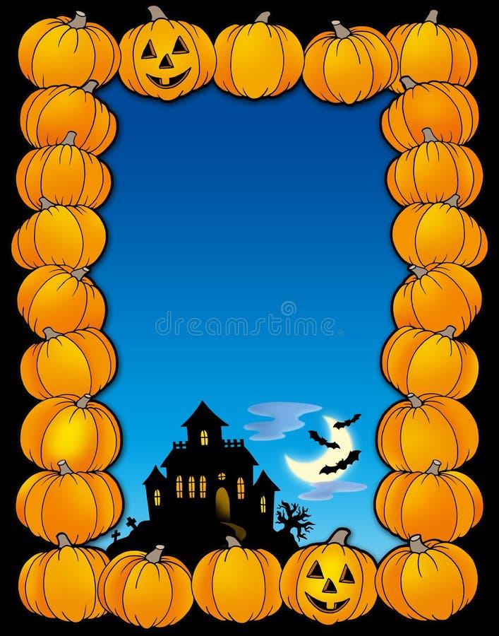 halloween ramowy dom ilustracji
