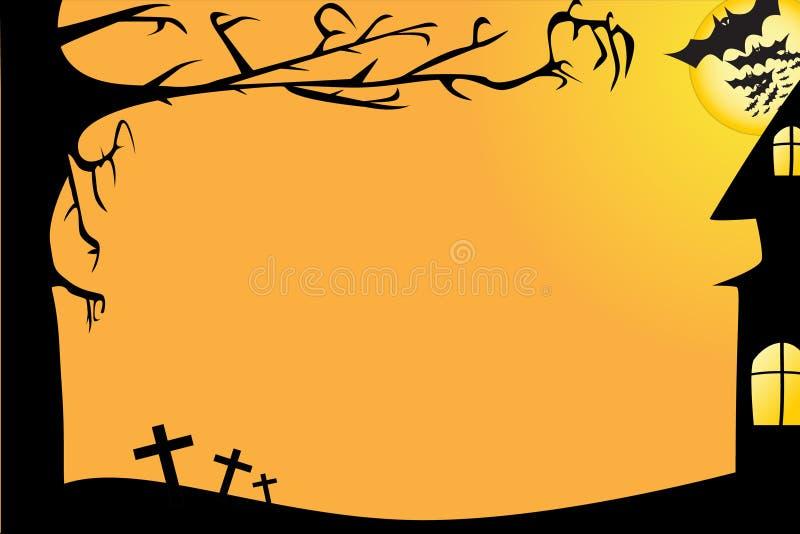Halloween-Rand-Vektor stock abbildung