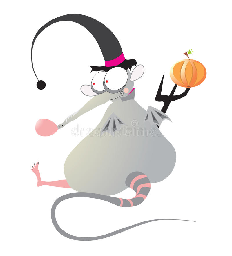Download Halloween rat stock vector. Image of scary, wizard, smiling - 16019268