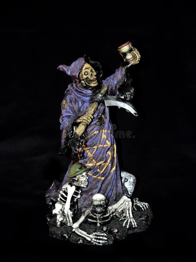 Halloween, reaper desagradável. fotos de stock royalty free