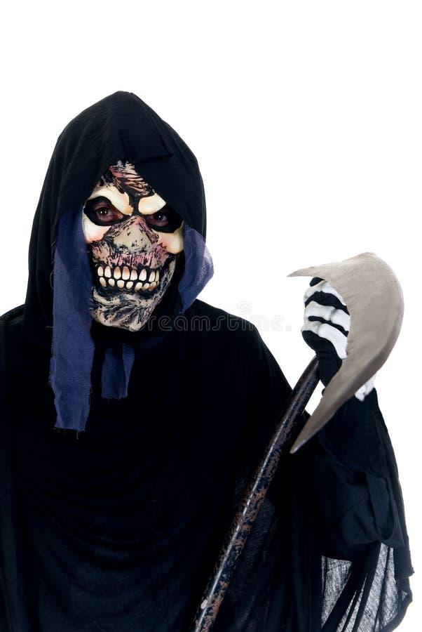 Halloween, Reaper desagradável foto de stock
