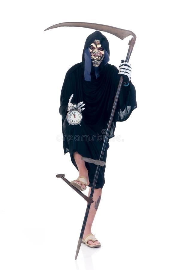 Halloween, Reaper desagradável fotografia de stock