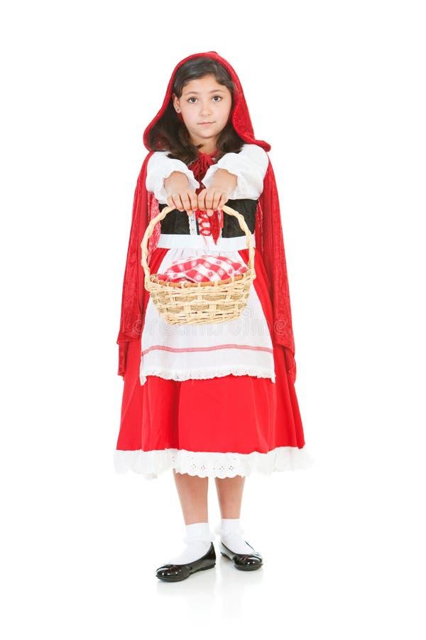 Halloween: Redi die Hood Holding Out Basket berijden royalty-vrije stock afbeeldingen