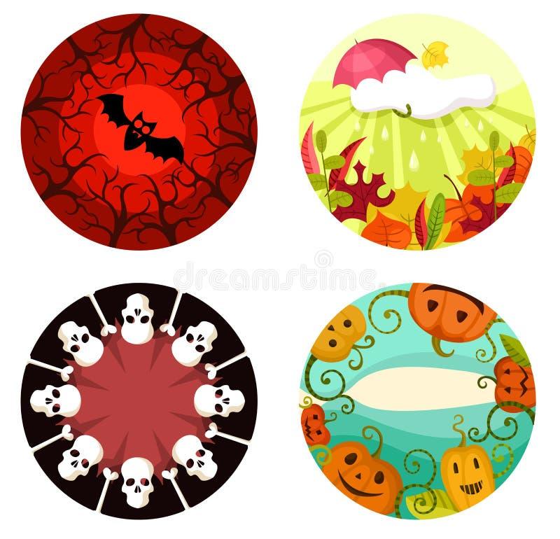 Halloween-reeks stock illustratie