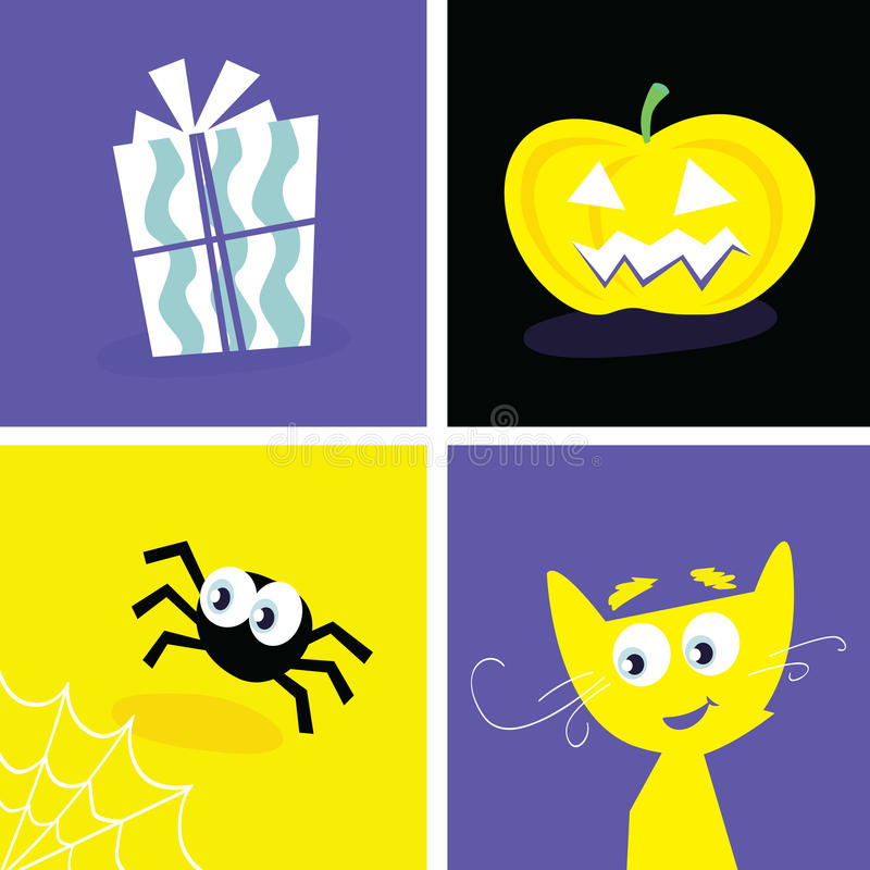 Download Halloween retro icons stock vector. Illustration of evil - 11124178