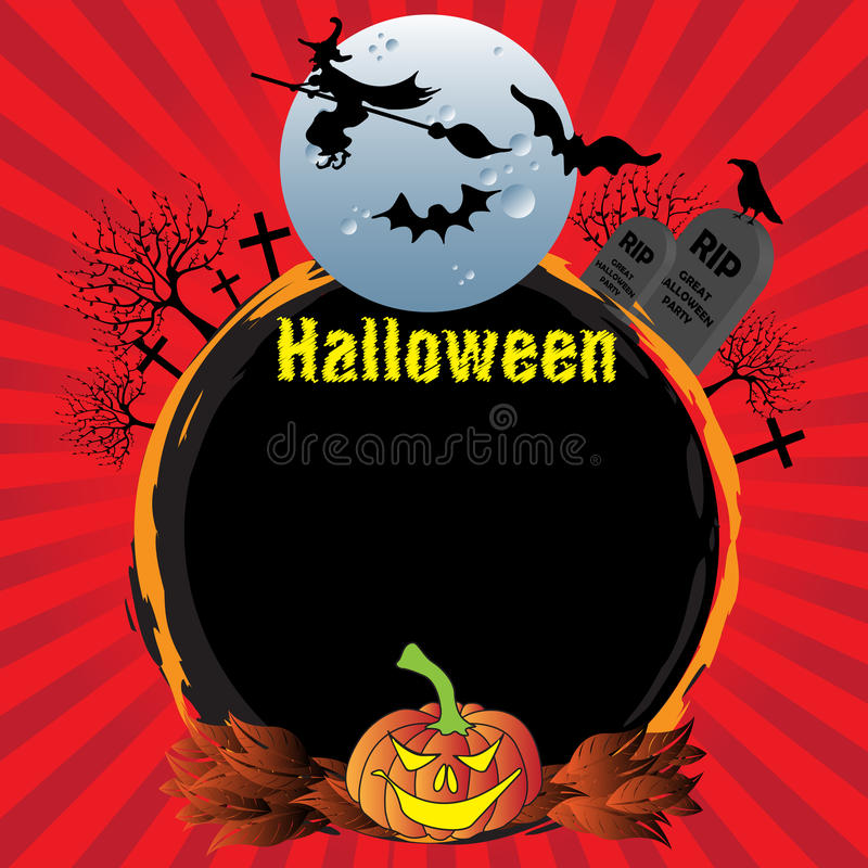 Halloween rounded frame