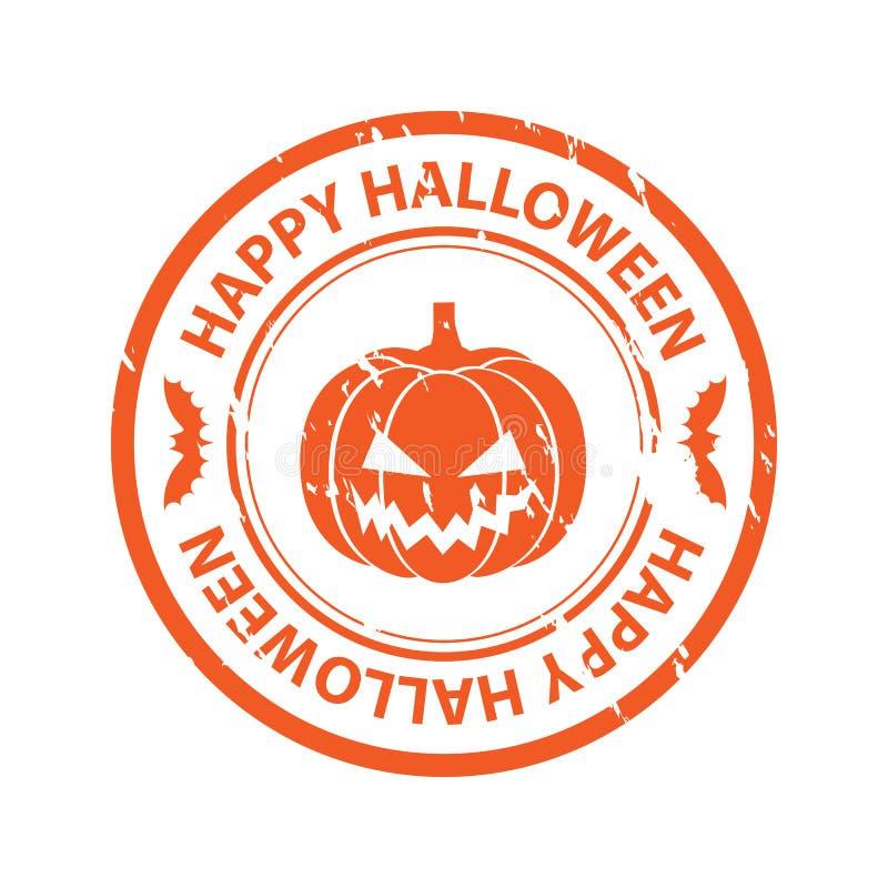 Halloween rubber stamp stock illustration