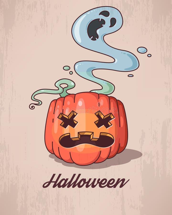 Halloween rzeźbiąca pączuszku royalty ilustracja