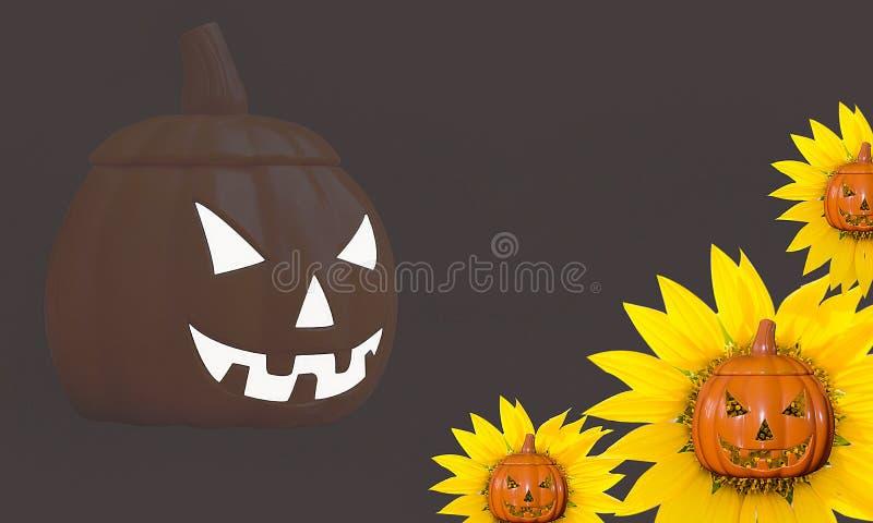Halloween rzeźbiąca pączuszku obrazy royalty free
