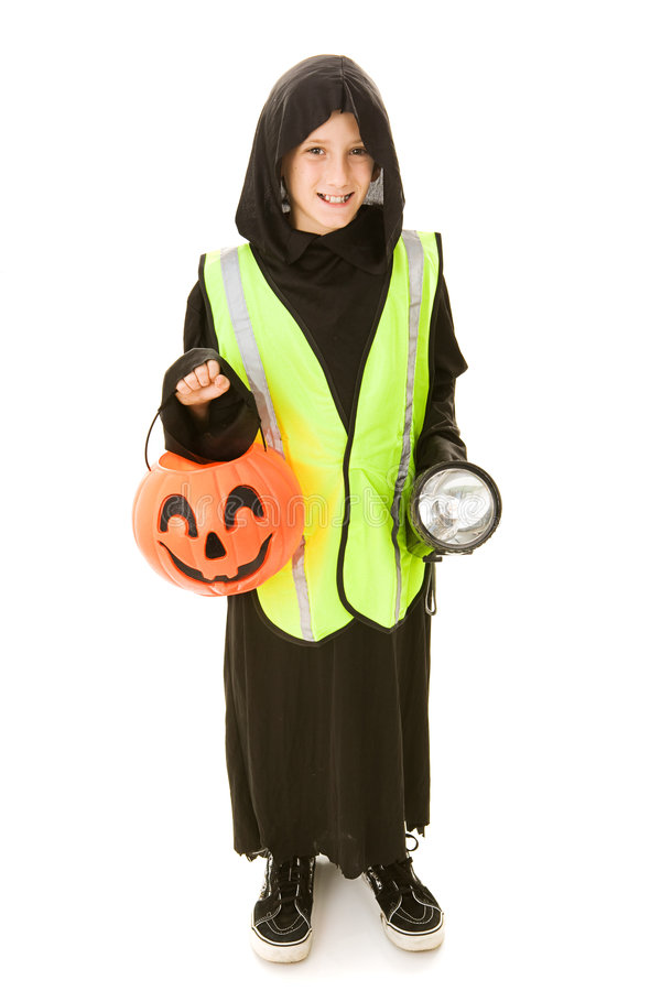 halloween säkerhet fotografering för bildbyråer