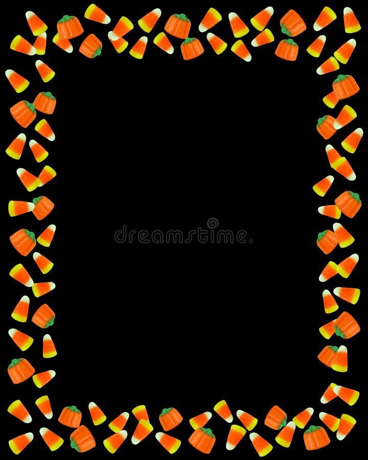 Halloween-Süßigkeit-Mais-Feldschwarzes stock abbildung