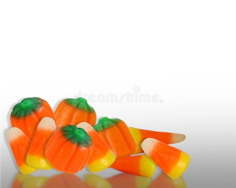 Halloween-Süßigkeit-Mais-Rand vektor abbildung