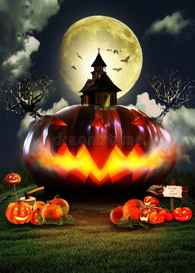 Halloween-` s Kürbis stockbilder