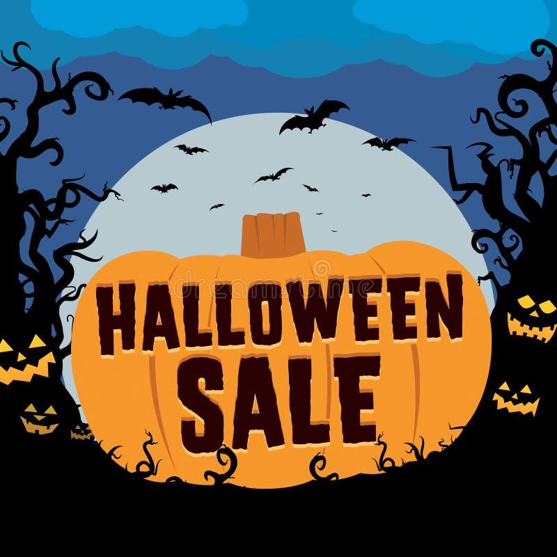 Halloween Sale royalty free illustration