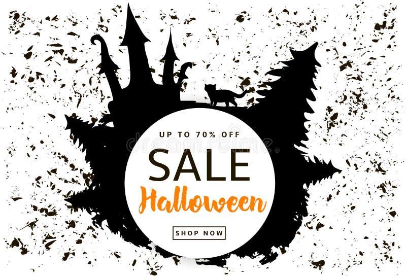 Halloween Sale creative background stock illustration