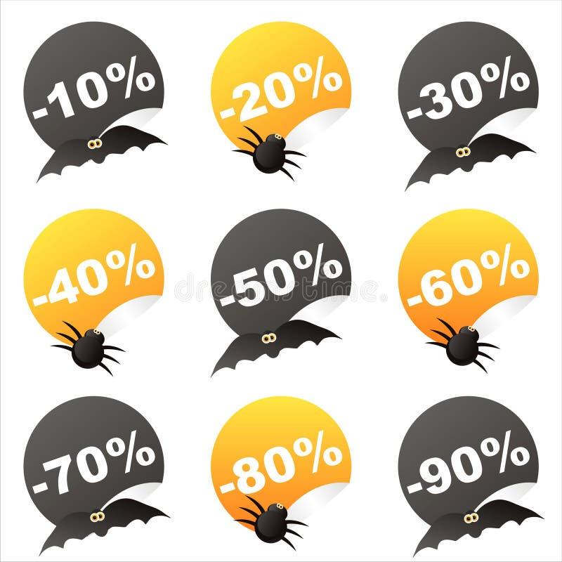 Download Halloween sale stickers stock vector. Illustration of black - 21347011