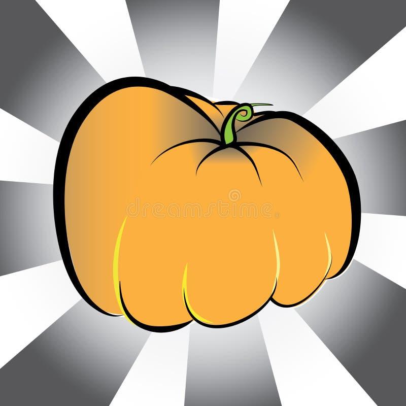 Halloween-Sammlung - einzelner Kürbis vektor abbildung