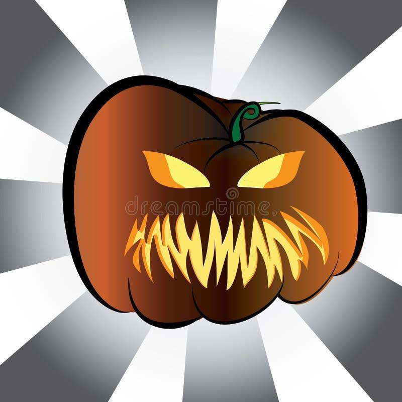 Halloween-Sammlung - verärgerter Kürbis stock abbildung