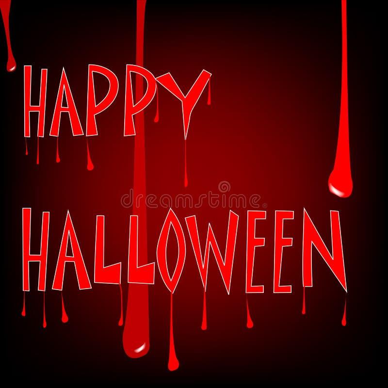 Halloween sanguinante royalty illustrazione gratis