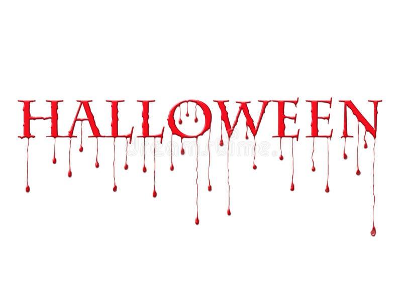 Halloween sanguinante illustrazione di stock