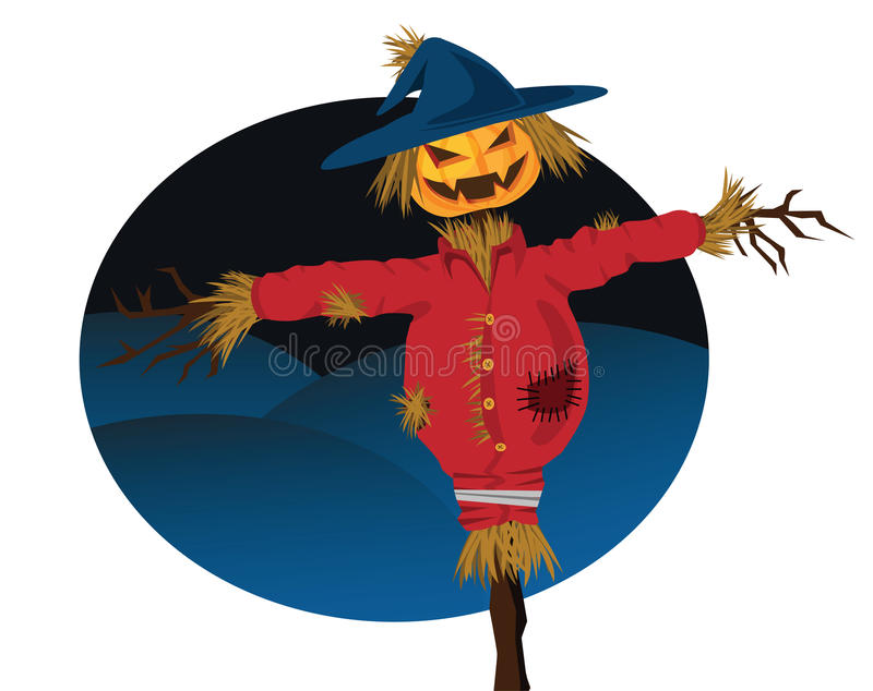 Halloween scarecrow stock illustration