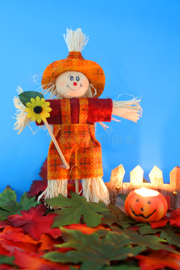 Halloween scarecrow royalty free stock images