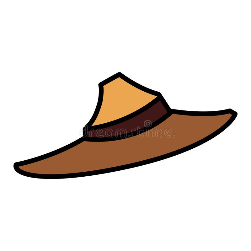 Halloween scarecrow hat icon stock illustration
