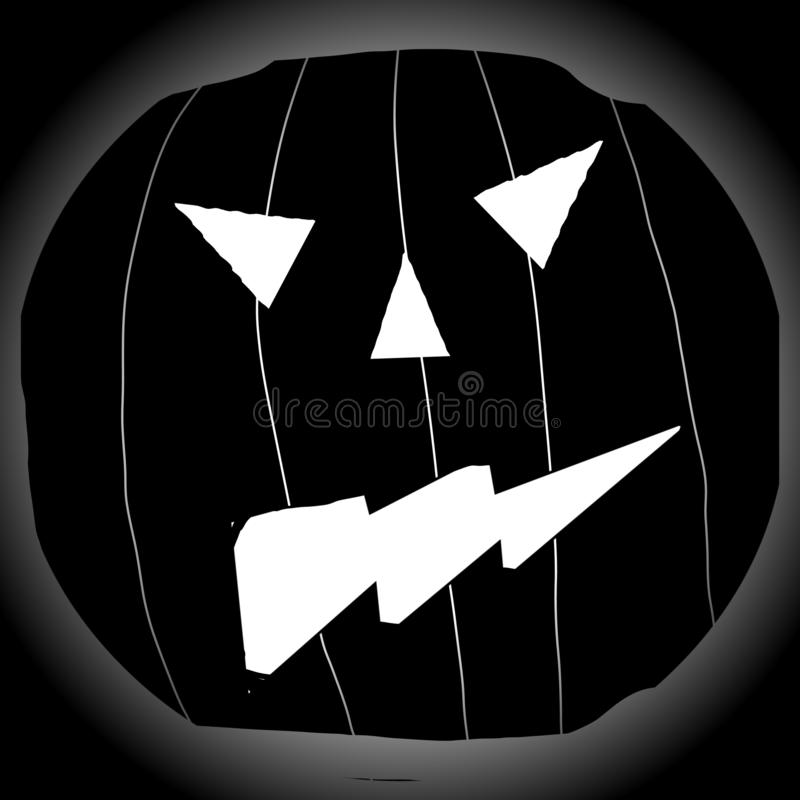 Halloween with scary pumpkin background illustrated image royalty free illustration