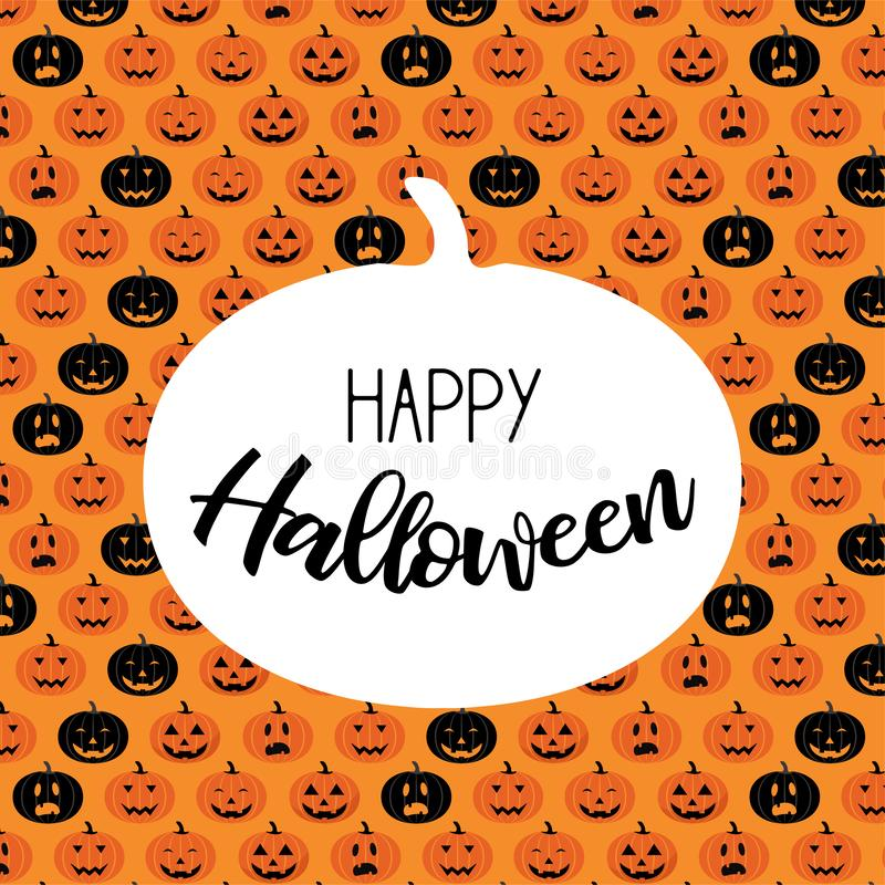 Halloween scary pumpkin pattern. Poster, card, banner or background for Trick or Treat Halloween Party. Vector illustration vector illustration