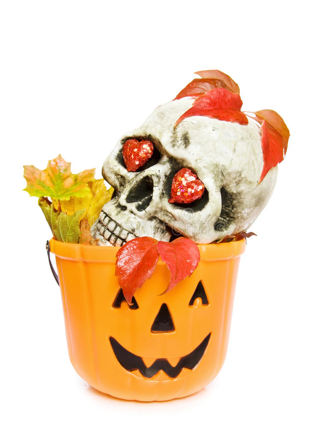 Download Halloween Scary Skull And Pumpkin Stock Photo - Image: 11198734