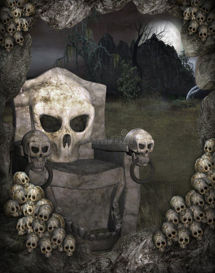 Halloween scenery 2 stock illustration
