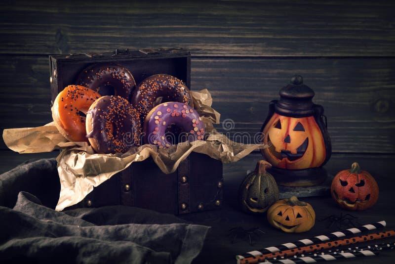 Halloween-Schaumgummiringe lizenzfreie stockfotos