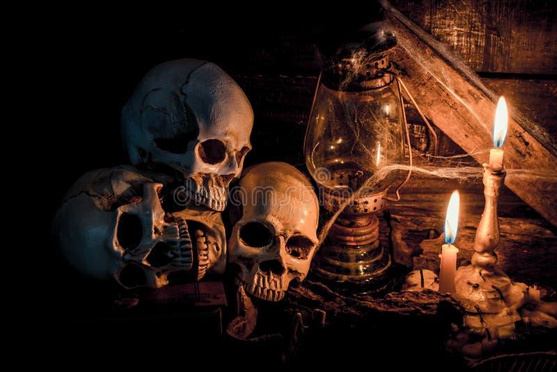 Halloween-schedel royalty-vrije stock fotografie