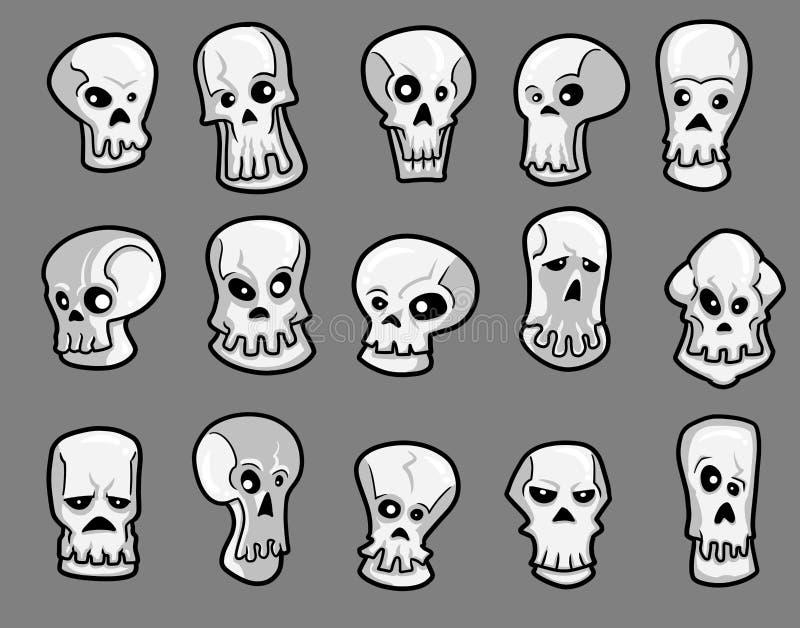Halloween-Schedels vector illustratie
