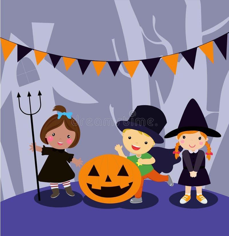 Halloween scherzt Kost?m-Partei vektor abbildung