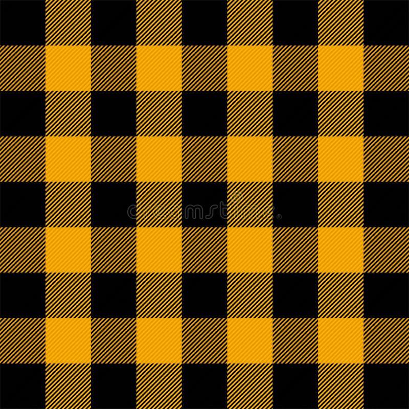 Halloween-Schottenstoffplaid Muster Scottishkäfig vektor abbildung