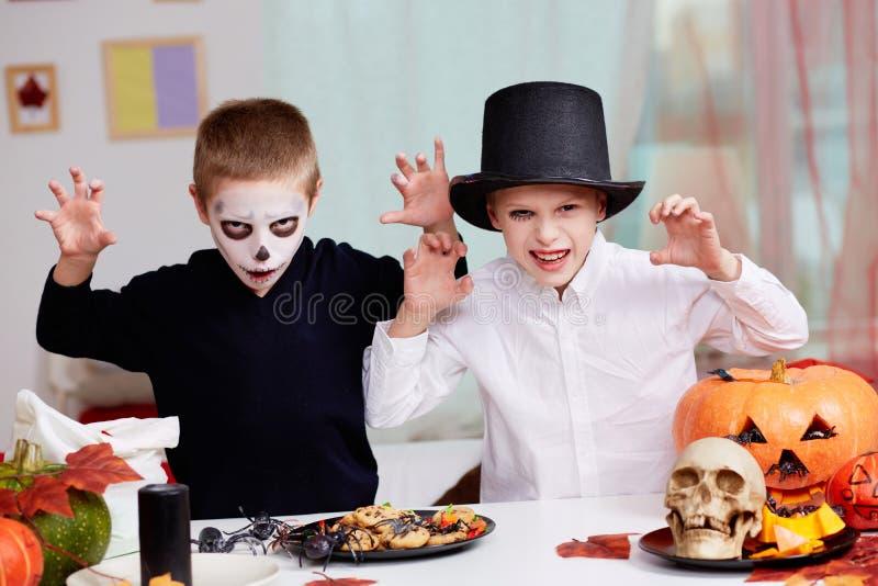 Halloween-schrik royalty-vrije stock foto