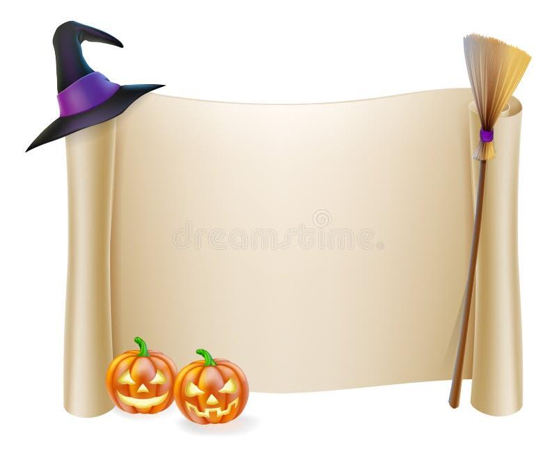 Halloween Scroll Background stock illustration