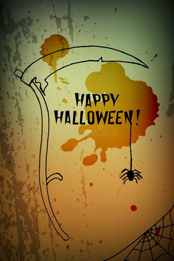 Download Halloween scythe stock vector. Image of text, haunted - 34654425