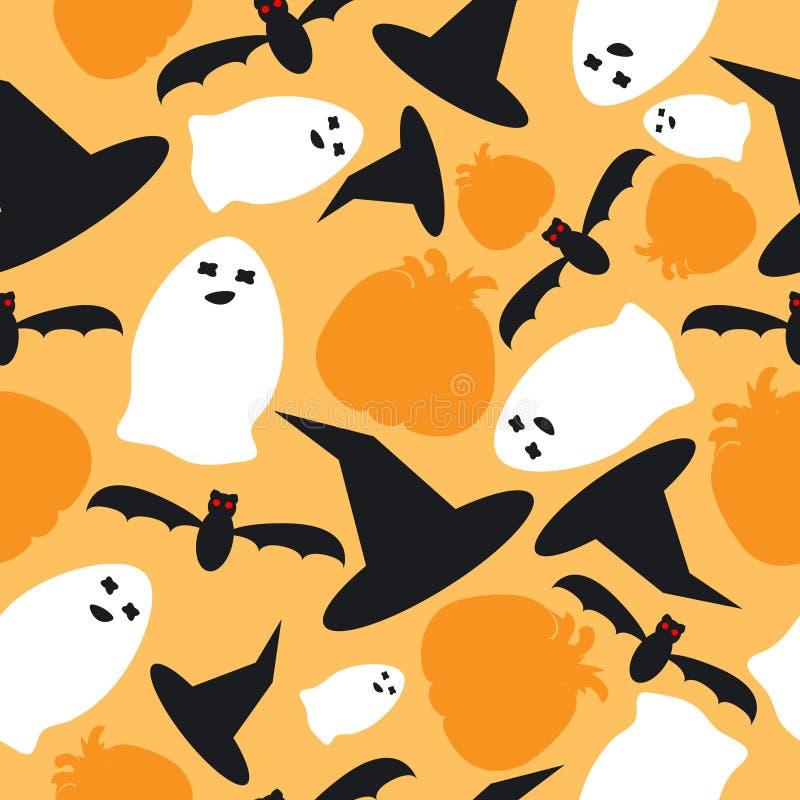 Halloween seamless stock illustration