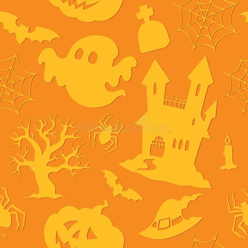 Free Halloween Seamless Background 2 Royalty Free Stock Images - 25446079