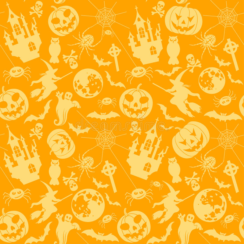 Download Halloween Seamless Background Stock Vector - Image: 21414972